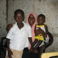 Sudan Family In Market
