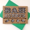 Original Bah Humbug Hand Printed Christmas Card