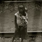 Children at Train Stop