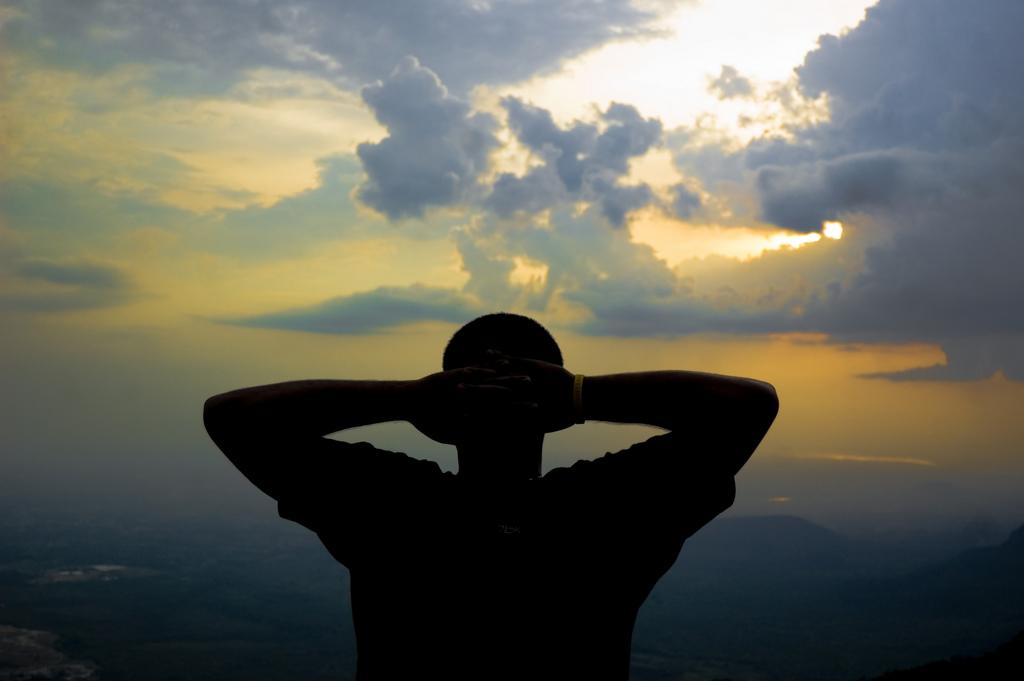A Pondering Athlete By Clik Maverick
